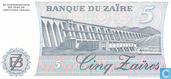 Bankbiljetten - Banque du Zaïre - Zaïre 5 Zaïres