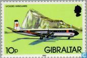 Briefmarken - Gibraltar - Aircraft