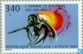 Timbres-poste - France [FRA] - Homme préhistorique