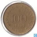 Argentinien 100 Peso 1980 (Aluminium-Bronze)