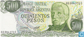 Banknotes - 1976-83 ND Issue - Argentina 500 Pesos 1977