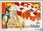 Postage Stamps - Malta - Vikings