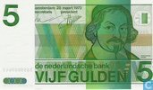 Netherlands 5 Gulden 1973