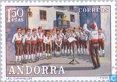 Postzegels - Andorra - Spaans - Folklore