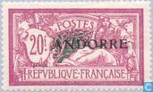 Postage Stamps - Andorra - French - Allegory (Type Merson)