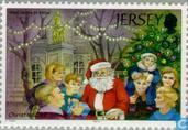 Postzegels - Jersey - Kerstman