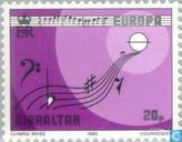 Postage Stamps - Gibraltar - Europe – Music Year