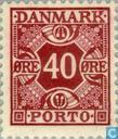 Postage Stamps - Denmark - Figure and four crowns