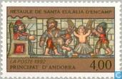 Postage Stamps - Andorra - French - Religious art