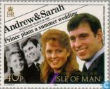 Postzegels - Man - Prins Andrew en Sarah- Huwelijk