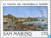 Postzegels - San Marino - Int. postzegeltentoonstelling Napels