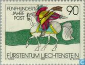 Postzegels - Liechtenstein - Internationale postverbindingen 500 jaar
