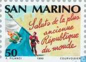 Postage Stamps - San Marino - European Year of Tourism