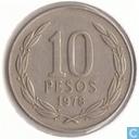 Chili 10 pesos 1978
