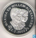 "Aruba 10 florin 2002 (PROOFLIKE) ""Marriage of Prince Willem-Alexander with Máxima Zorreguieta"""