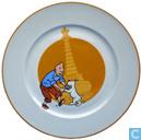 Céramique - Tintin - Kuifje in Tibet : bord