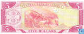 Banknotes - Central Bank of Liberia - Liberia 5 Dollars