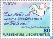 Postage Stamps - Liechtenstein - Europe – Peace and freedom