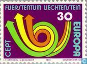 Postzegels - Liechtenstein - Europa – Posthoorn