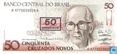 Billets de banque - Banco Central do Brasil - Brésil 50 cruzeiros