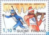 Briefmarken - Finnland - Biathlon-Weltmeisterschaften 1981