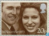 Postage Stamps - Great Britain [GBR] - Princess Anne and Mark Phillips Wedding
