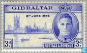 Timbres-poste - Gibraltar - WWII Victory