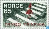 Briefmarken - Norwegen - Sicherheit im Straßenverkehr