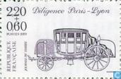 Postage Stamps - France [FRA] - Mail coach Paris-Lyon