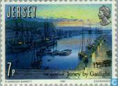 Briefmarken - Jersey - Gaslight 150 Jahre