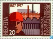 Postage Stamps - Switzerland [CHE] - Factory Legislation 100 years
