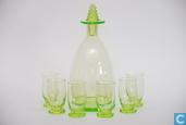 Verre / Cristal - Kristalunie - Brandy likeurglas vert-chine