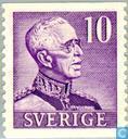Timbres-poste - Suède [SWE] - Roi Gustaf V (grands chiffres)