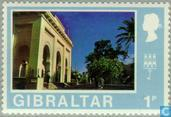 Postage Stamps - Gibraltar - Gibraltar then and now