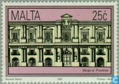 Postage Stamps - Malta - Historic buildings in Valletta