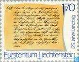 Postzegels - Liechtenstein - Verwerving Graafschap Vaduz 275 jaar