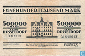 Banknotes - Düsseldorf - Stadt - Dusseldorf 500,000 Mark 1923