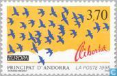 Postage Stamps - Andorra - French - Europe – Peace and freedom