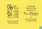 """Strips - Bommel en Tom Poes - Vollständige Übersicht zu den Abenteuern von Tom Pfiffig im """"Hanauer Anzeiger"""" 1965-1969"""