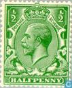 Postzegels - Groot-Brittannië [GBR] - George V- Watermerk GvR enkelvoudig