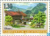 Timbres-poste - Liechtenstein - Faces Village
