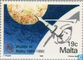 Postzegels - Malta - Internationale Telecommunicatie-unie