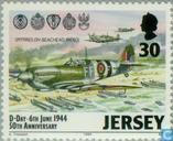 Briefmarken - Jersey - Invasion in der Normandie 50 Jahre