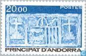 Postzegels - Andorra - Frans - Staatswapen