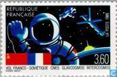 Postzegels - Frankrijk [FRA] - Ruimtevlucht Frankrijk-Sovjetunie