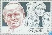 La visite du pape Jean-paul II