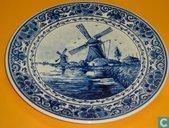 Delfts Blauw Wandbord - NKI - 26 cm - +/1960