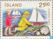 Postage Stamps - Iceland - Europe – Children's games