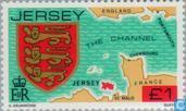 Postzegels - Jersey - Heraldiek