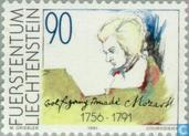 Postzegels - Liechtenstein - Mozart, Amadeus 1756-1791